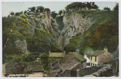 G. Marsden & Son; Hand-coloured photograph captioned Peak Cavern Gorge, Castleton. Addressed to Vera from Edith Collier.; A2015/1/142