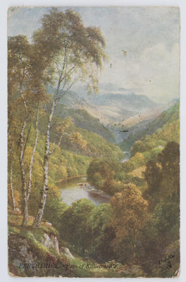 Raphael Tuck & Sons.; A colour print postcard of the Pass of Killiecrankie, Perthshire.; A2015/1/166