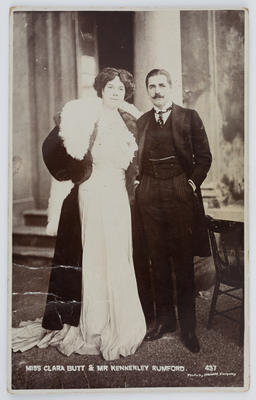 Ciwham; Black and white photographic postcard of Miss Clara Butt & Mr Kennerley Rumford.; A2015/1/172