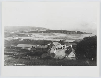 A photo which is a copy of a postcard of Bonmahon.; 1979; A2015/1/185