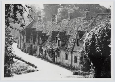 Unknown; Arlington Row. Black and white photo of a row of houses with dormers and tile/slate roofs.; A2015/1/189