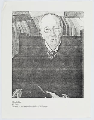 Edith Collier; Black and white photocopy of 'My Uncle'.; A2015/1/202