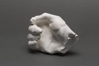 Plaster model of a clasped hand