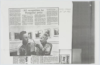 Wanganui Chronicle; NZ recognition for Wanganui artist; 15 Jan 1980; A2015/1/405