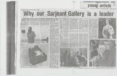 Wanganui Herald; Why our Sarjeant Gallery is a leader; 24 May 1980; A2015/1/408