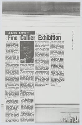 Unknown; Fine Collier Exhibition; 23 Feb 1980; A2015/1/409