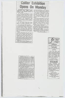 Unknown; Collier newspaper cuttings; Unknown; A2015/1/412
