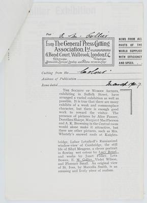 Colour Magazine; Cutting from Colour Magazine; Mar 1917; A2015/1/417
