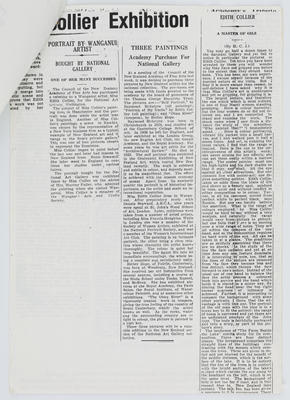 Unknown; Edith Collier newspaper cuttings; Unknown; A2015/1/418
