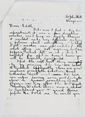 Harry Collier; Letter to Edith Collier from her brother Harry January 13 1916; 13 Jan 1916; A2015/1/432