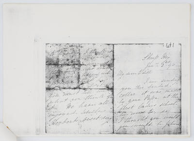 Lydia Collier; Letter to Edith Collier from Grandmother Lydia 2nd January year unknown; Unknown; A2015/1/433