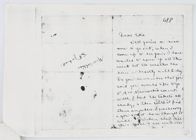 Ethel M Ellison; Letter to Edith Collier from Ethel date unknown; Unknown; A2015/1/440