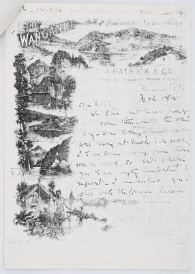 Henry Collier; Letter to Edith Collier from her Father 18 March 1915; 18 Mar 1915; A2015/1/451