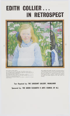 Unknown; Edith Collier... In Retrospect poster; Unknown; A2015/1/469