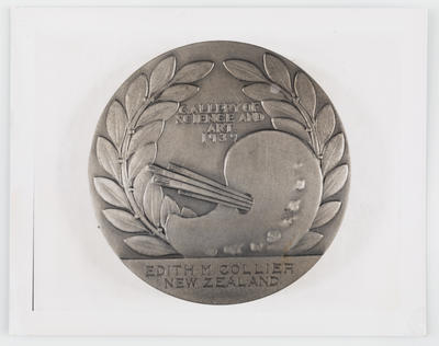 Unknown; Photograph of Gallery of Science and Art 1939 medallion; 1939; A2015/1/471