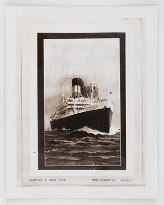 """Unknown; Photograph of the S.S. """"Vauban""""; Unknown; A2015/1/476"""