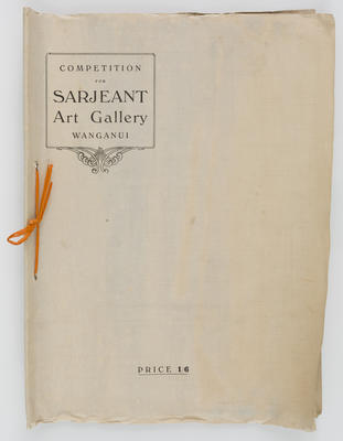 Competition for Sarjeant Art Gallery Wanganui booklet