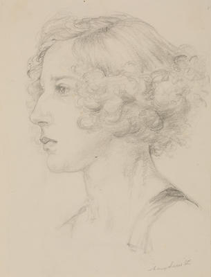 Untitled (Woman with curly hair)