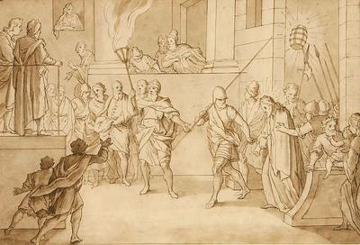 Bernadino Poccetti; Italian School; Jesus Christ taken before Caiaphas; 17th Century; 1922/1/7