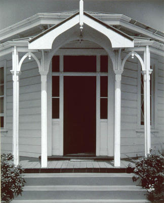 Doorway, Waitere Residence, Main South Road, Putiki, Wanganui 1979