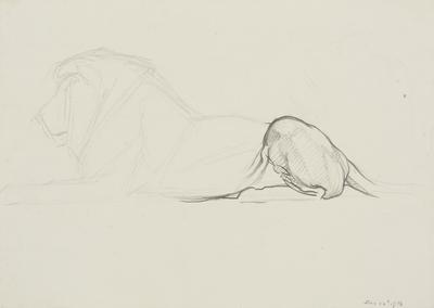 Vivian Smith; Untitled (Lion); 24 Dec 1913; 1988/27/401