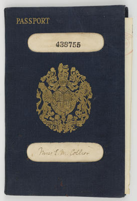 Unknown; Edith Collier's Passport; 20th Century; A2015/1/490