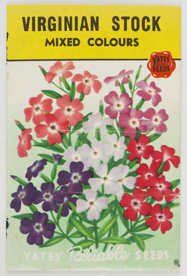 Unknown; Packet of flower seeds; 20th Century; A2015/1/491
