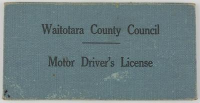 Unknown; Edith Collier's Driver's License; 1955-1958; A2015/1/492