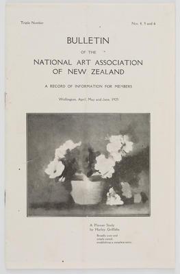 National Art Association of New Zealand; National Art Association of New Zealand; Apr 1925; A2015/1/498