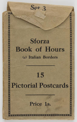 Unknown; Sforza Book of Hours postcards; Unknown; A2015/1/499
