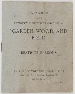 Unknown; 'Garden, Wood, and Field' catalogue; Unknown; A2015/1/503