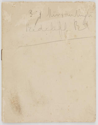 Unknown; Matisse and Maillol exhibition catalogue; 1919; A2015/1/504