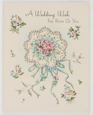 Unknown; Blank wedding card; Unknown; A2015/1/511