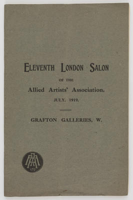 Unknown; Allied Artists' Association catalogue; 1919; A2015/1/519
