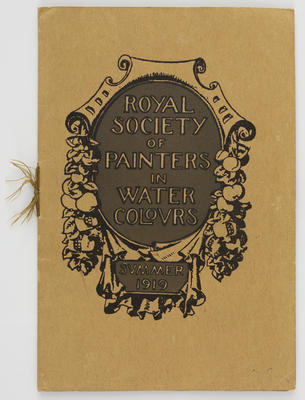 Unknown; Royal Society of Painters in Water Colours catalogue; 1919; A2015/1/521