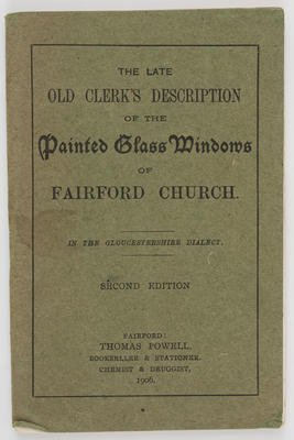 Unknown; Painted Glass Windows of Fairford Church booklet; 1906; A2015/1/522