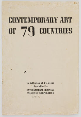 Unknown; Contemporary Art of 79 Countries catalogue; 1939; A2015/1/525