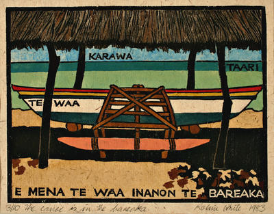 Robin White; Beginners Guide to Gilbertese: 5. The canoe is in the baneaka; 1983; 1983/23/1.5