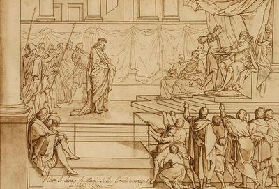 Pilate washes his hands of the condemnation of Jesus Christ