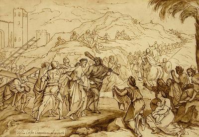 Jesus Christ walks to Calvary etc