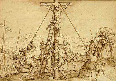 Bernadino Poccetti; The Crucifixion of the Two Thieves Raised up beside Jesus Christ our Lord; 17th Century; 1922/1/23