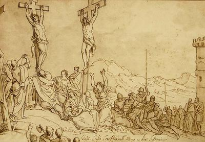 Jesus Christ crucified between two Thieves