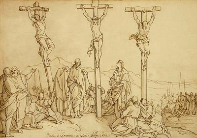 Bernadino Poccetti; The Marys and John at the foot of the Cross; 17th Century; 1922/1/26