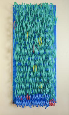 Don Driver; Duraband 3 [blue tarpaulin with green tape and some yellow and blue]; 1986; 1987/3/3