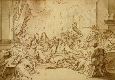 Bernadino Poccetti; Pentecost; 17th Century; 1922/1/35