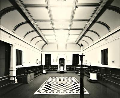 Laurence Aberhart; Interior #2, Lodge Whanganui, Bell Street, Wanganui; 1986; 1988/3/42