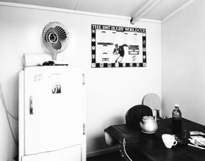 Smoko room, Ray Joyce Car Trimmers, Frankton
