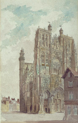 Francis Philip Barraud; Abbeville Cathedral, 1885; 1885; L1940/6/10