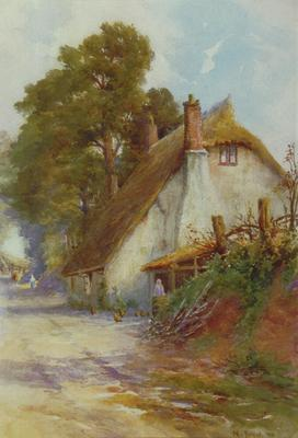 Edward Noel Barraud; Cottage by a Lane; 1920; L1940/6/11