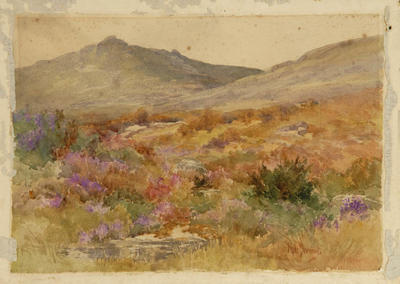 Edward Noel Barraud; Moors and Mountain Landscape; Circa 1900; L1940/6/13
